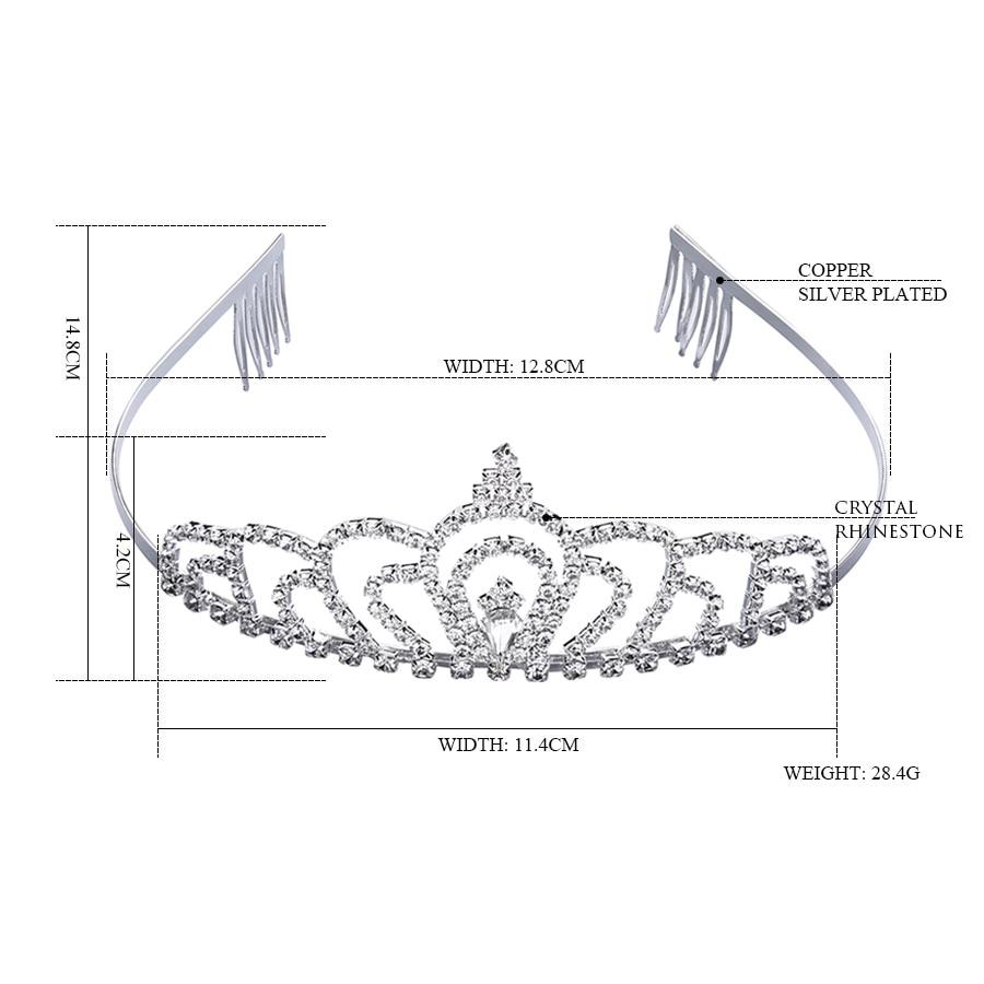 Clear Rhinestone Crown Headband Silver Wedding Tiara Hair bands Bridal  Diadem Hair Accessories Girls Hairwear Birthday Gift-in Hair Jewelry from  Jewelry ... 74a4e1aa5cc5