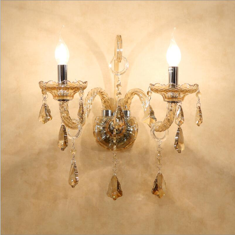 European beside lamps wall light crystal living room wall lamp gold candle wall lamp romantic wall lamp bedroom lights|light pendant lamp|light level|light form - title=
