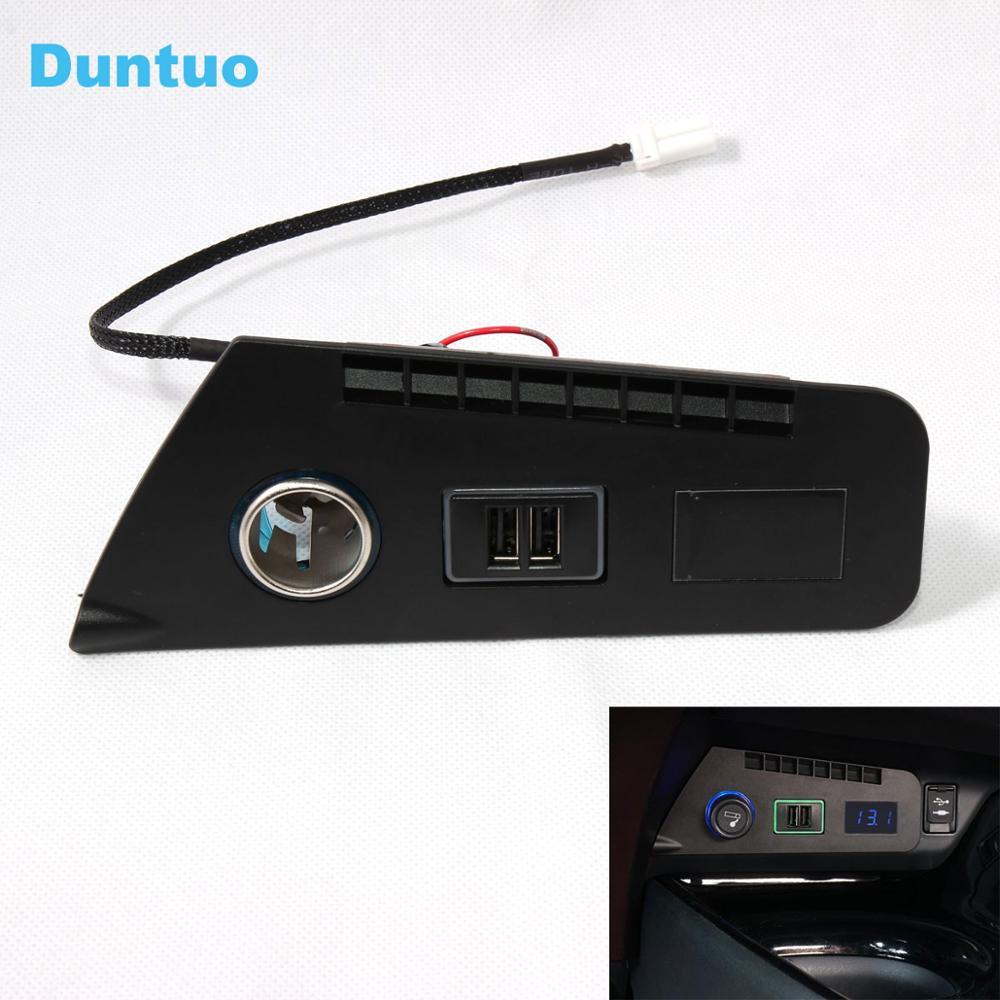 QC3.0 Quickcharge allume-cigare chargeur de voiture Double USB téléphone DVR adaptateur Plug & Play câble pour 2018-2019 Toyota C-HR/IZOA