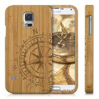 Authentic Bússola Madeira de Bambu Da Tampa Do Caso Para Samsung Galaxy S5 Neo S7 S6 Borda Borda MAIS S4 MINI Para LG G3 G4/Livre navio