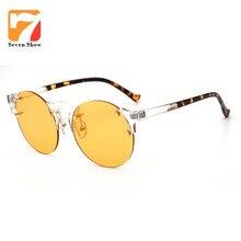 2017 Steampunk gafas de Sol Mujeres Hombres Diseñador de la Marca Marco Gafas Redondas Gafas de Sol Para Mujeres Vintage Shades Oculos UV400
