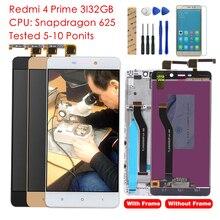 Testato Grado per Xiaomi Redmi 4 Pro Prime Display LCD Digitizer Touch Assemblea di Schermo Con Cornice TouchScreen del Pannello Parti di Ricambio