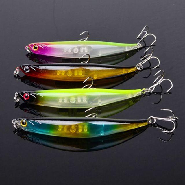 4 Pcs Classic Fishing Lure Morire Matita Pesce Wobblers Duro Esca Crankbait Acqua Dolce Pesca Alla Carpa Affrontare 89 millimetri 7.6g