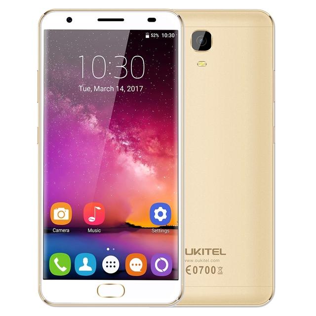 OUKITEL K6000 Plus 4G Android 7.0 Phablet 4G 64G 5.5 ''. 5D écran 8.0MP + 16.0MP Caméra Smartphone 12 V/2A de Charge du Flash Touch ID