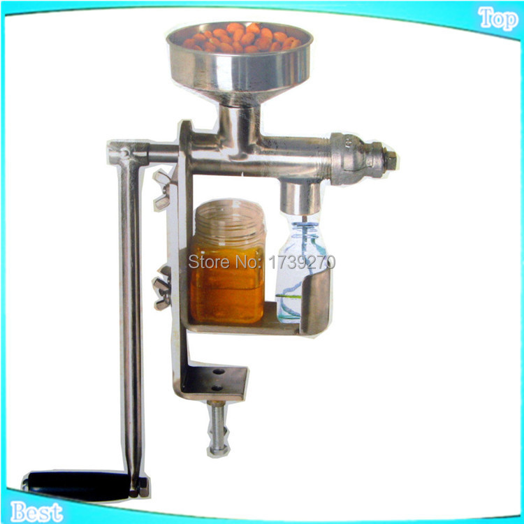 Hand crank oil press, nuts seed oil expeller, Household stainless steel oil extractor , oil machine manual, hot press