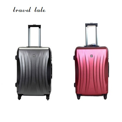 fashion high quality 20/24/28 inches ABS+PC Rolling Luggage Spinner business Travel Suitcase Unisex travel tale color stitching 20 22 24 26 28 inches abs high quality rolling luggage spinner brand travel suitcase