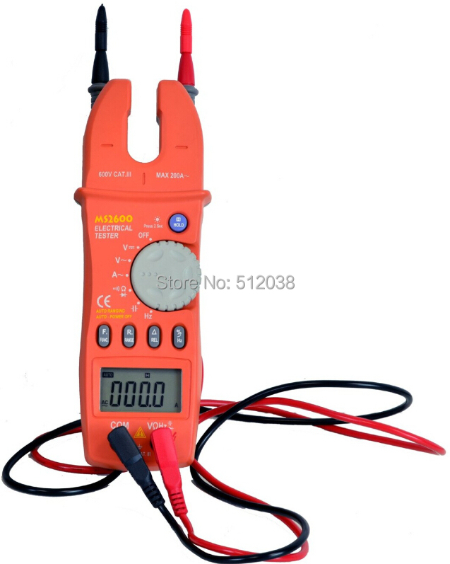 MS2600 digital auto/manual range clamp meterMS2600 digital auto/manual range clamp meter