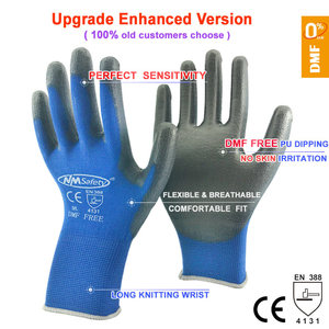 Image 2 - NMSafety 12 Pairs work gloves for PU palm coating safety glove