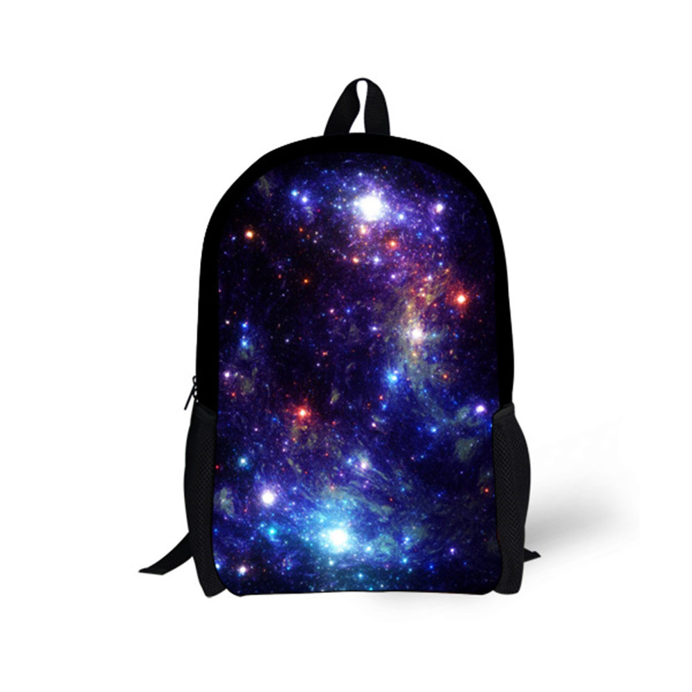 Customized 2018 Fashion Students Polyester School Bags Galaxy Printing Schoolbags For Teenagers Girls For Travel Bags цена
