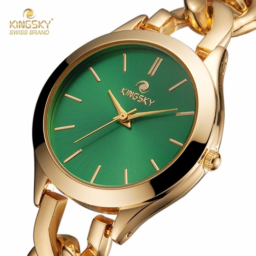 Prix pour Femmes Montres KINGSKY Marque De Luxe Quartz Casual Simple Bracelet De Mode Montre Dames Montre-Bracelet pour Femmes Relogio Feminino