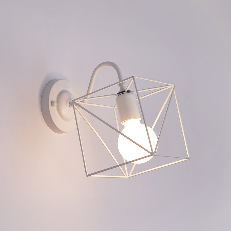 Modern 3D Cube Led Indoor Wall Lamps Nordic Wrought Iron Wall Sconce Lighing Fixture Bedside Stairs Vanity Lights Room Home DecoModern 3D Cube Led Indoor Wall Lamps Nordic Wrought Iron Wall Sconce Lighing Fixture Bedside Stairs Vanity Lights Room Home Deco