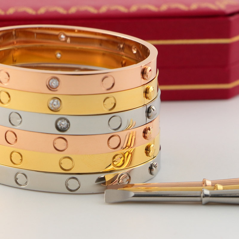 Nouveau Titane Acier cinquième carter Amour Bracelet bracelet Femmes Hommes tournevis manchette Bracelet logo Graver Pulseira feminina bijoux
