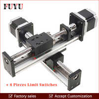Robotic arm rod ball screw linear rail guide slide table actuator for cnc 300*300mm XY motion module parts motorized router kits