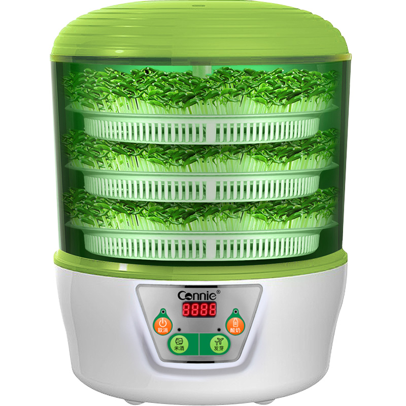 Electric Multi Bean Sprout Machine 3 Layers Yogurt Rice Wine Maker Machine Thermostat Green Seeds Growing Mung Bean Sprout Pot yoga sprout 90060 90080 3 6