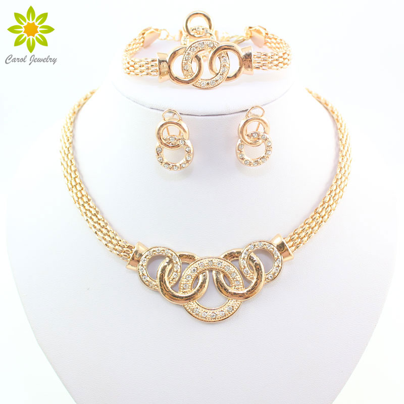 Fine Jewelry Sets African Beads Collar Statement Necklace Earring Bracelet Ring For Women Jewelry Sets Vintage Party Accessories