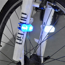 2PCS Silicone Bike Bicycle Cycling Head Front Rear Wheel LED Flash Light Lamp Outdoor Sports Bike Cycling Accessories Apr 27