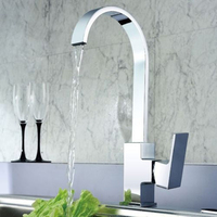Modern Brass Single Handle Single Hole Kitchen Faucet Wall Mounted Torneira Cozinha Mixer Hot And Cold