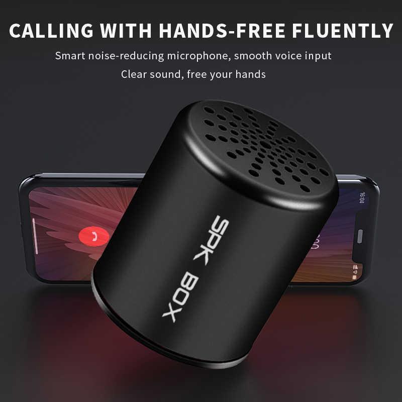 SPK BOX 2 Packs TWS système sans fil Bluetooth haut-parleurs métal Portable Mini stéréo son haut-parleur MP3 musique jouer Microphone 3W