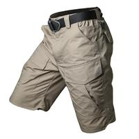 Men's Outdoor Sports Fast Dry Cargo Short Trousers Summer Militar Tactical Traning Waterproof Knee Length Beach Overalls Shorts