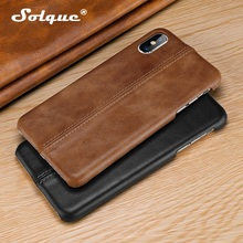 Genuine Leather Thin Hard Cover Case For iPhone 11 Pro Max Phone Luxury Slim Cases for X XS XR Matte Vintage