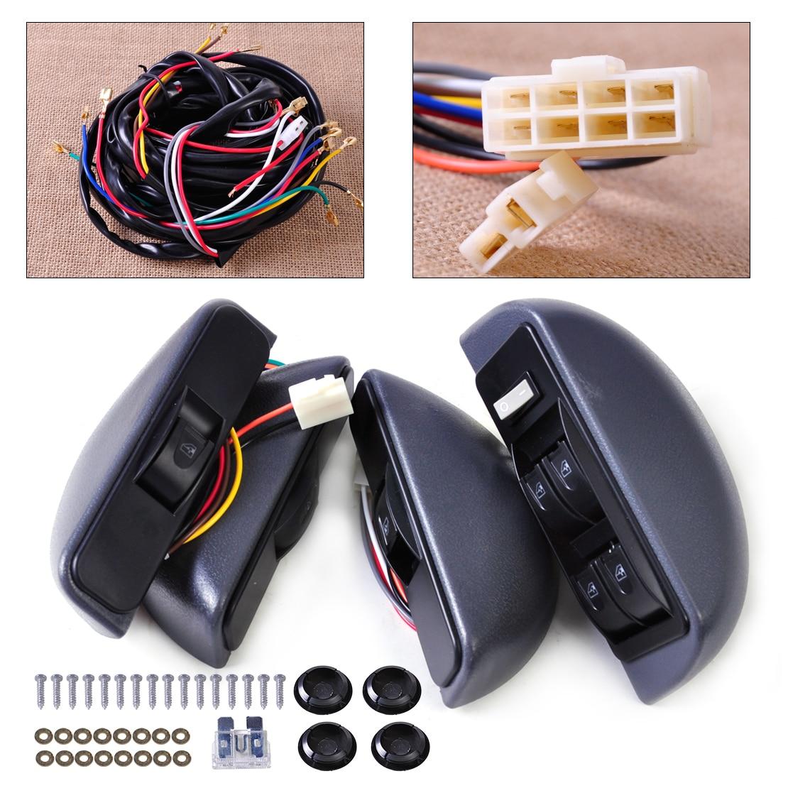 CITALL Power Window Lock Kit 4 Rocker Switch Button Window Switch 12V Car 4 Doors For Ford Hyundai Nissan Chevrolet Honda