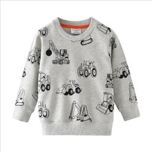 Tees for Boys Baby Children Winter Clothes Cartoon Cars Print Cotton T shirt New Style Long Sleeve Tops