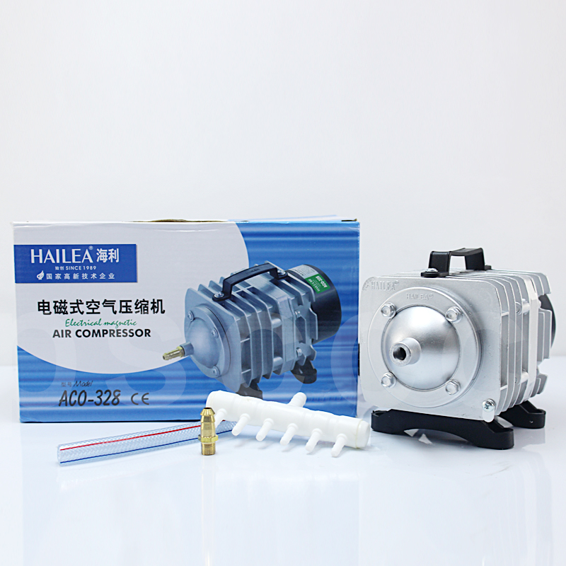 Home & Garden 82l/min 60w Hailea Aco 328 Aco328 Electromagnetic Aeration Pump Oxygen Pump Hotel Seafood Pool Fish Pond Aquaculture Tank Air Firm In Structure