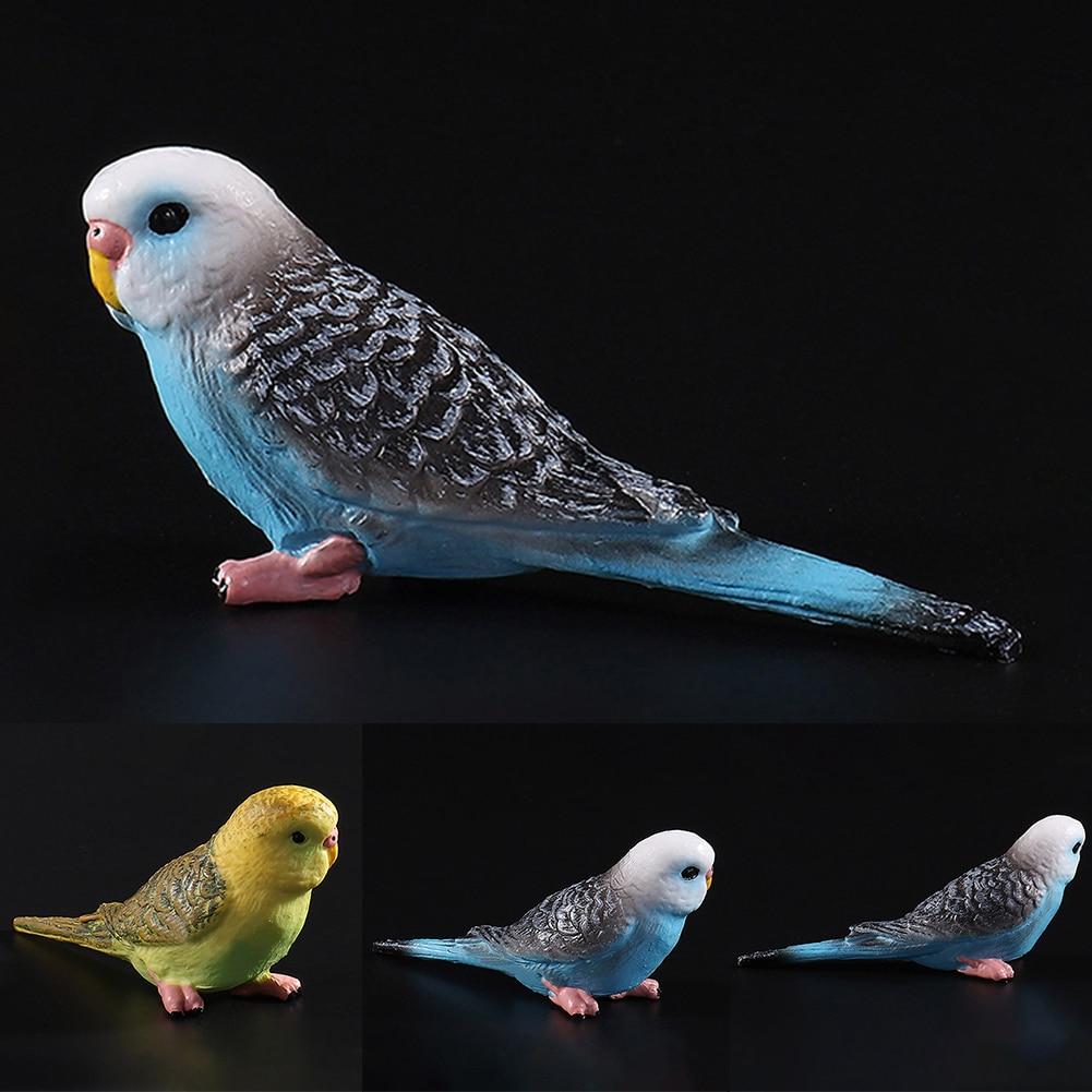 Miniature FAIRY GARDEN Figurine ~ Mini Budgie Parakeets Birds on Branch ~ NEW