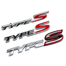 Car Sticker Grille Emblem Grill Badge TypeS Letters Metal/ABS 2 Design For Honda Jade Civic Fit Tuning Car Styling Accessories