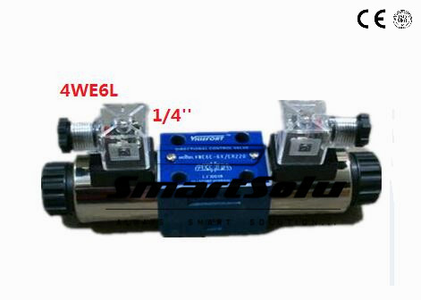 Free shipping Rc 1/4 4WE6L rexroth 4we type solenoid operated directional spool valves ,  24V DC New in Box coffee cjh34h100s dc 24v directional motor 1001 dj27