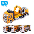 1:48 Pull Back Alloy Car Engineering Truck Model Excavators Cement Concrete Mixer Dumpers Diecasts Toy Vehicles for Boys q005