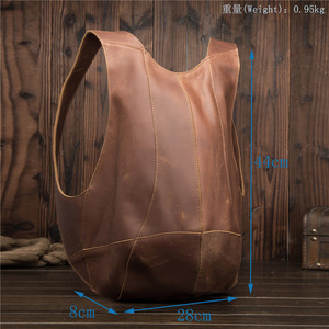 Image 2 - 2108 Man Woman Backpack Genuine Leather Shoulder Anti theft Back Zipper Ipad Phone Pocket Pouch Business Travel Mochila Gifts