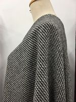 New 150cm Wide Wool Fabric Black And White Corrugated Wool Fabric Classic Winter Coat Coat