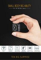 Wifi IP mini cámara inalámbrica HD 720 p infrarrojos micro Cámaras de vídeo ir cámara de visión nocturna grabadora portátil DV deporte al aire libre