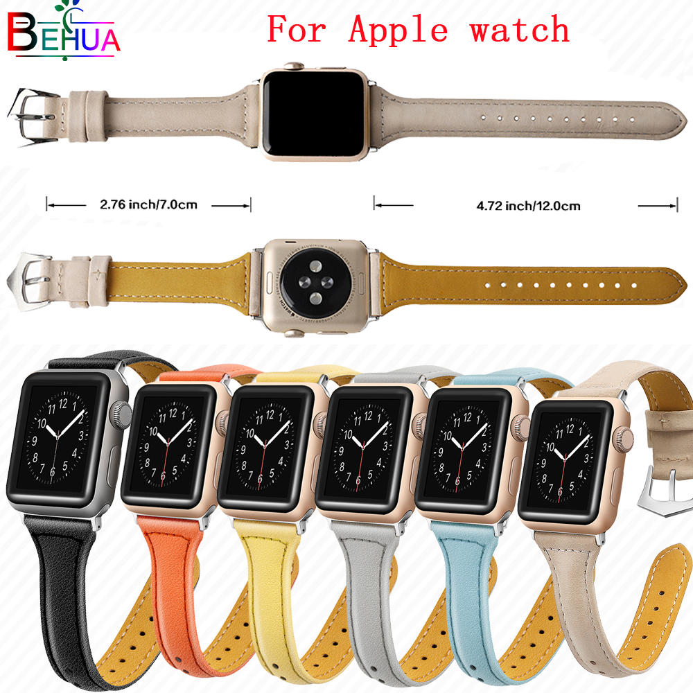 Leather Strap For Apple Watchband 38mm 42mm Replacement Bracelet Wrist Band For Iwatch Series 4 3 2 144mm/40mm Smart Accessories