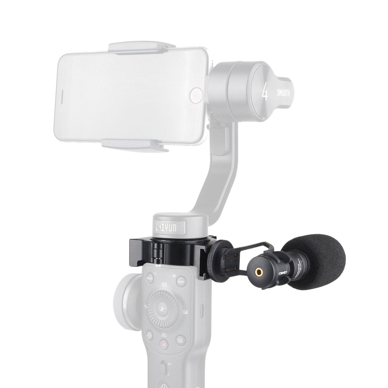 EACHSHOT COMICA CVM-VM10-II Microphone vidéo à condensateur directionnel cardioïde avec support adaptateur de chaussure chaude pour Zhiyun lisse 4