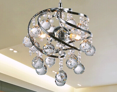 Modern brief dining room decoration k9 crystal pendant light personalized bar counter lighting bedroom light free shipping