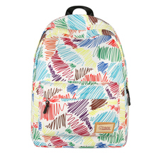 Quality Waterproof Nylon Printing Women Backpack Casual School Student Laptop Rucksack Female Bagpack Book Bag for Teenage Girls