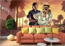 3d Wallpaper Benutzerdefinierte Foto Mural Spiel Bar KTV Dekoration Malerei Wandbilder Fr Wnde 3 D Wohnzimmer