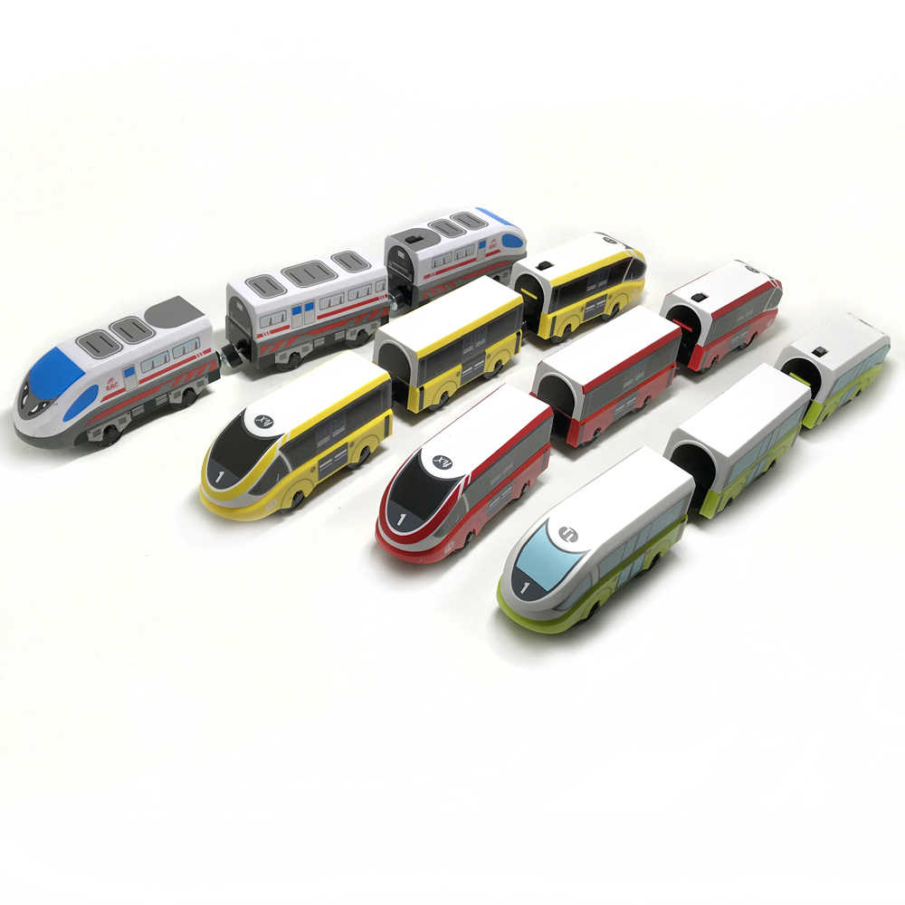 Free Shipping RRC EMU Electric Train Set Wooden track car Children transport toy Compatible with wooden rail BIRO track