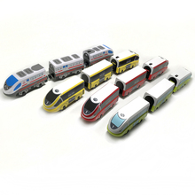 Free Shipping RRC EMU Electric Train Set Wooden track car Children transport toy Compatible with wooden rail BIRO track p092 free shipping rail connection wood track essential accessories compatible thomas wooden train track children s toys