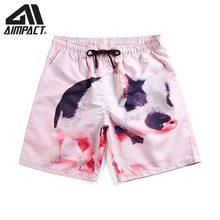 Fashion Hybird Shorts Quick Dry Board Shorts Casual Homewear 2019 New Summer Cute Beach Shorts Sea Surf Swim Trunks Male AM2118(China)