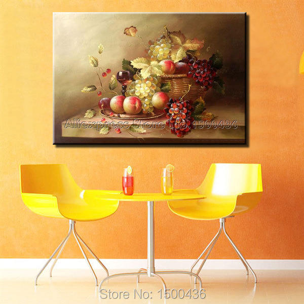 Merveilleux High Quality Hand Painted Modern Abstract Still Life Oil Painting Fruit  Picture Kitchen Wall Art Canvas Decoration No Frame In Painting U0026  Calligraphy From ...