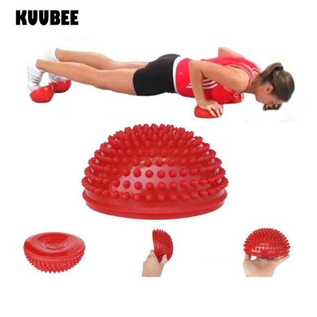 e4e4cbc326 Yoga Half Ball PVC Tactile Exercises Trainer Pilates Fitness Yoga Balance  Massage Ball