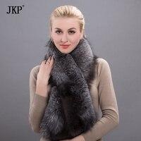 2017 Magnetic Female Real Silver Fox Fur Women Warm Winter Scarf High Quality Shawl Wholesale