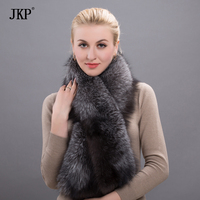 2017 Magnetic Female Real Silver Fox Fur Women Warm Winter Scarf High Quality Shawl Wholesale