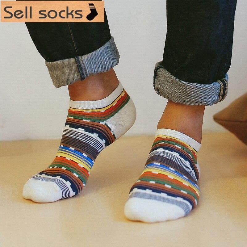 new summer Square colorful fringe boat socks Casual man socks cotton sock slippers EUR39-44
