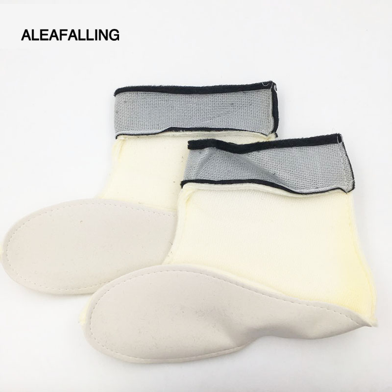 Aleafalling Warm Thick Collapsible Portable Shoes Cover Cotton Ankle Liner Winter Boots Cover Cashmere Removable 19-21CM SC011