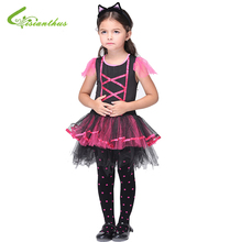Halloween Costume Fancy Clothing Set For Girls Children Latin Dance Costumes Dress Headwear Party Dresses Christmas