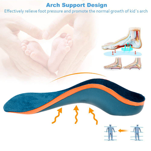 Image 2 - Demine Children Orthopedic Insoles Flatfoot Corrector Arch Support Orthotic Pads Toddler Children Shoes Pads Foot Health Care